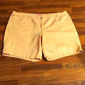 Peach Woman Within Denim Shorts
